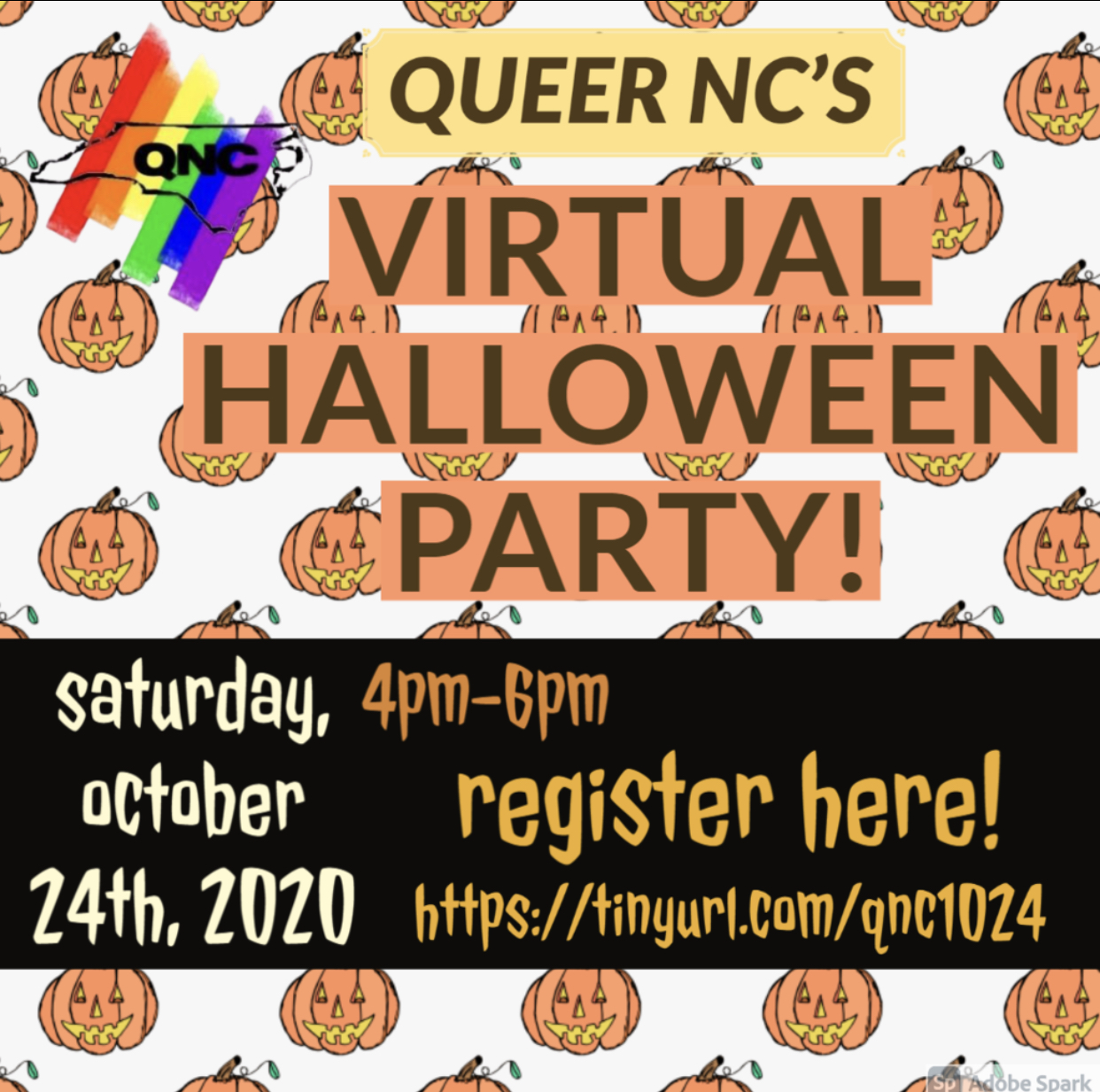 QueerNC Virtual Halloween Party