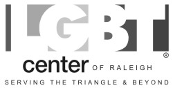 LGBT Center of Raleigh Greyscale Horizontal logo 250
