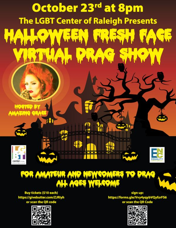 Halloween Fresh Face Virtual Drag Show