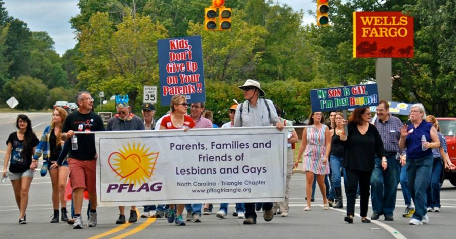 PFLAG Triangle at NC Pride in 2013