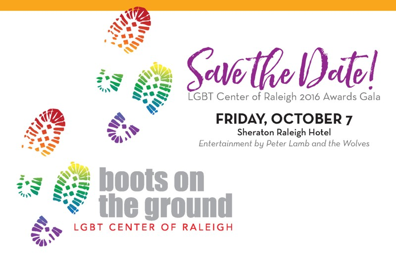 2016 LGBT Center of Raleigh Awards Gala Save the Date