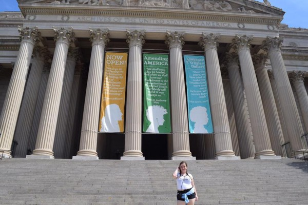 Jenna at the National Archives in Washington