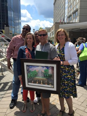 Gift Presentation from the City of Raleigh to HRC at OutRaleigh