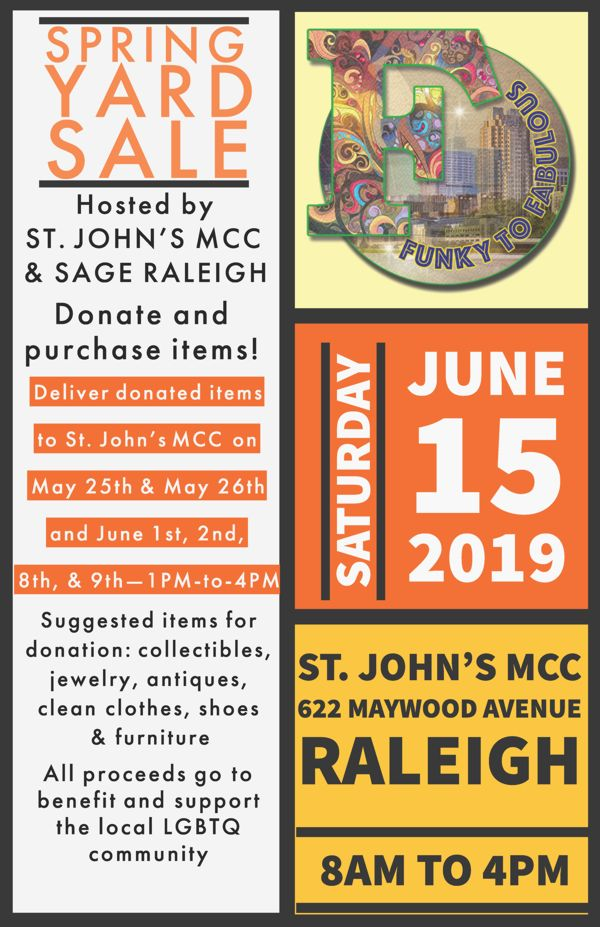 Spring Yard Sale June 2019
