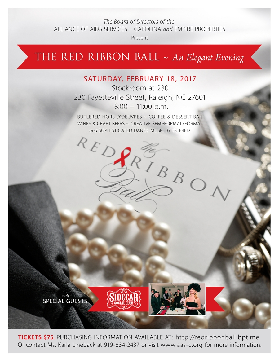 Red Ribbon Ball 2017 Invitation