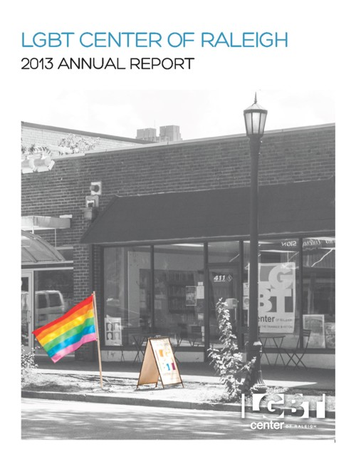 LGBT Center of Raleigh Annual Report Fiscal Year 2012